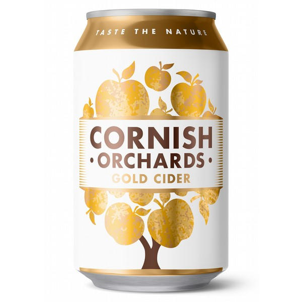 Cornish Orchards Gold  Cider Cans