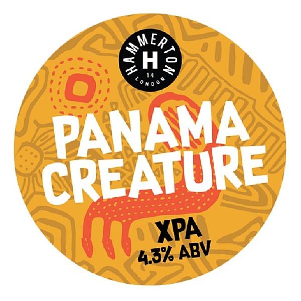Hammerton Panama Creature Round Flat Badge