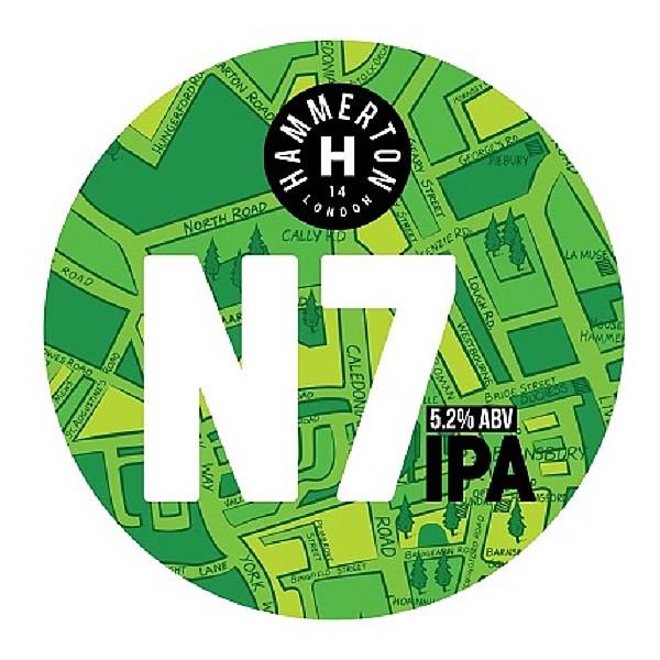 Hammerton N7 Round Flat Badge