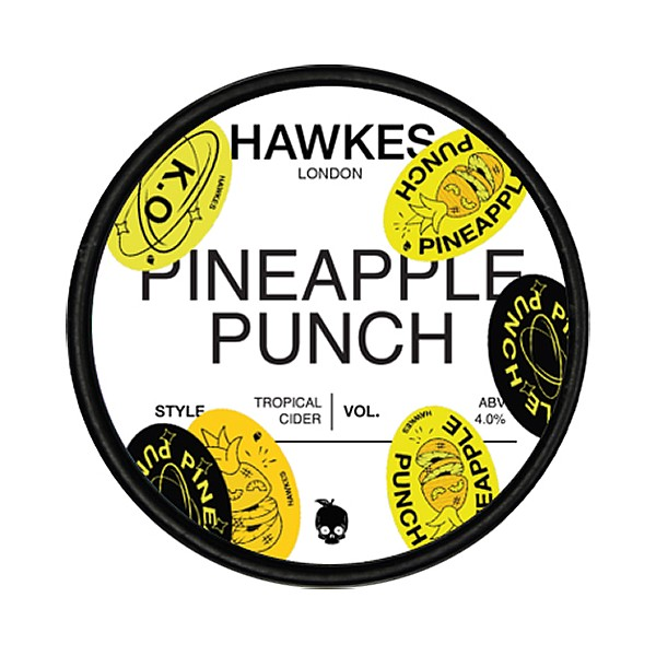 Hawkes Pineapple Punch Tropical  Cider