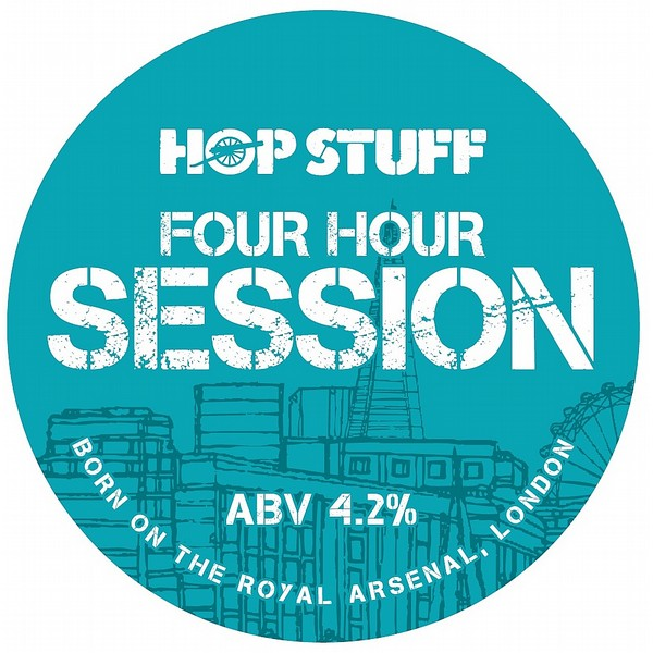 HopStuff Four Hour Session Round Flat Bdge