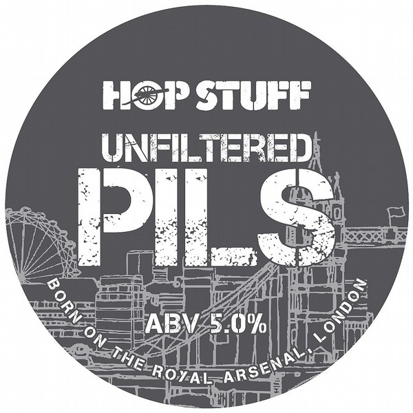 Hop Stuff Unfiltered Pils Round Flat Badge