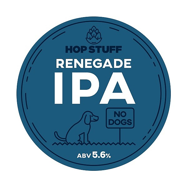 Hop Stuff Renegade IPA Round Flat Badge
