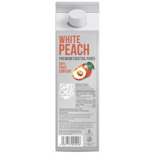 Island Oasis Premium White Peach Puree