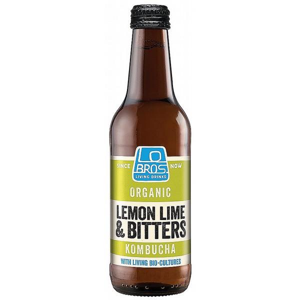 Lo Bros Lemon Lime Bitters Kombucha