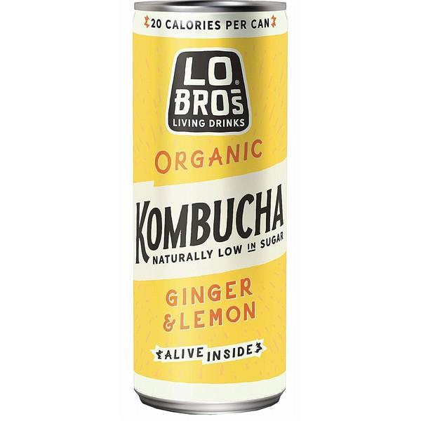 Lo Bros Ginger Lemon Kombucha