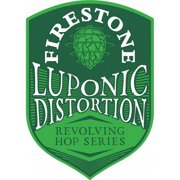 Luponic Distortion Oval Badge