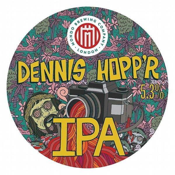 Mondo Dennis Hopp'r IPA Round Flat Badge