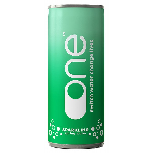 One Water Sparkling 33cl Can