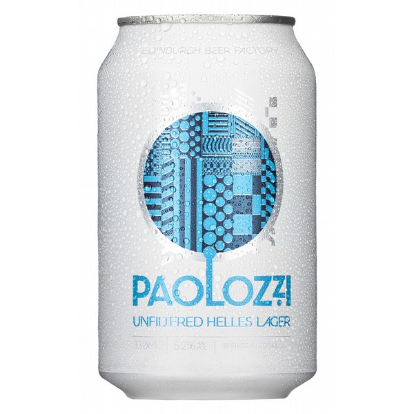 Paolozzi Unfiltered Lager Cans