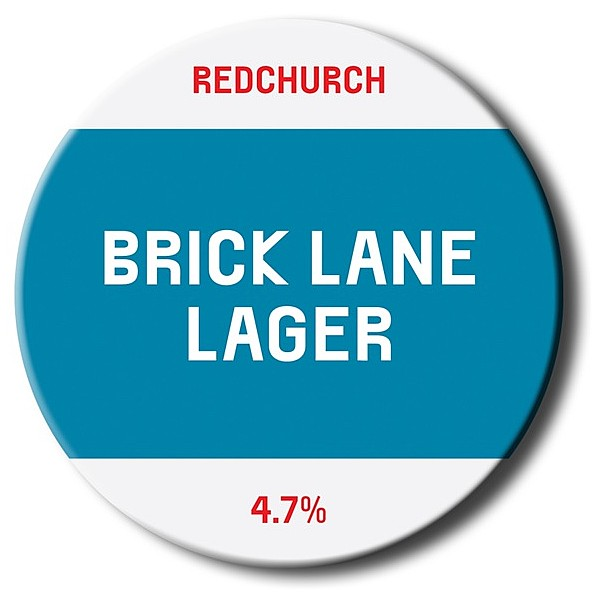 Brick Lane Lager Oval Badge