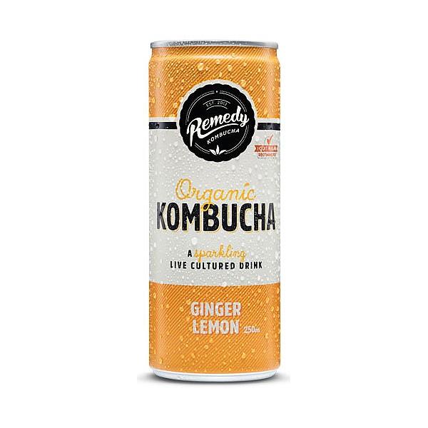 Remedy Ginger & Lemon Kombucha Cans