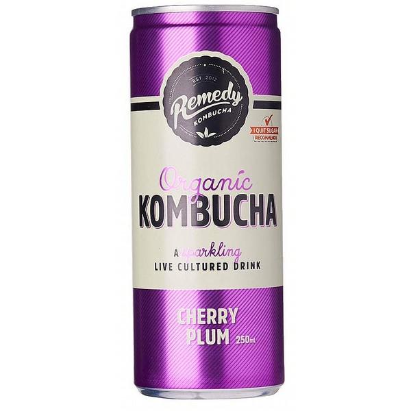 Remedy Cherry Plum Kombucha Cans