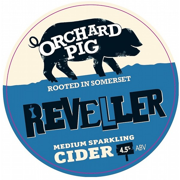 Orchard Pig Reveller Round Fish Eye Badge