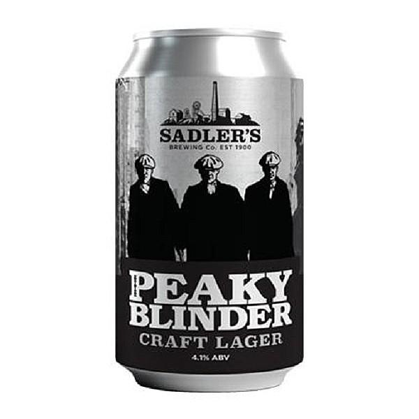 Sadler's Ales Peaky Blinder Lager Cans