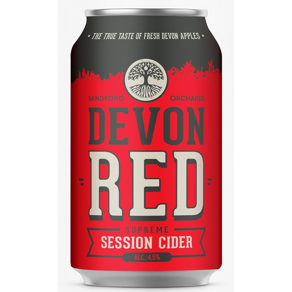 Sandford Orchards Devon Red Cider Cans