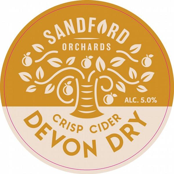 Sandford Devon Dry Round Badge