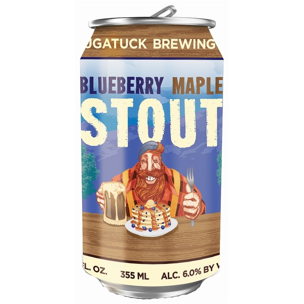 Saugatuck Blueberry Maple Stout Cans