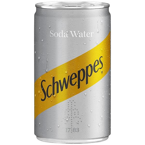 Schweppes Soda Water Travel Cans