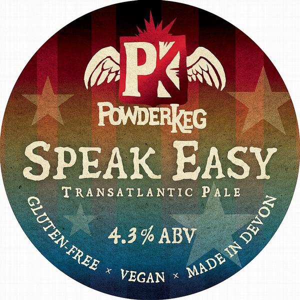 Powderkeg Speak Easy Oval   Badge