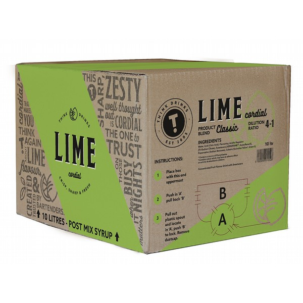 Think Lime Cordial  BIB