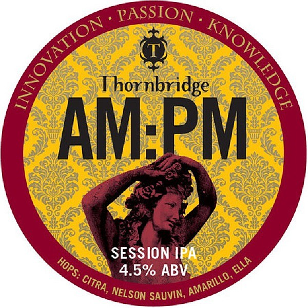 Thornbridge AM:PM Round Tap Badge