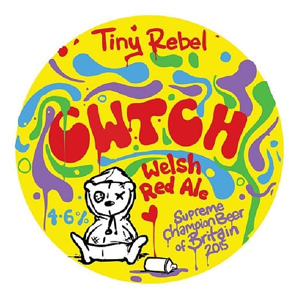 Tiny Rebel CWTCH Round Flat Badge