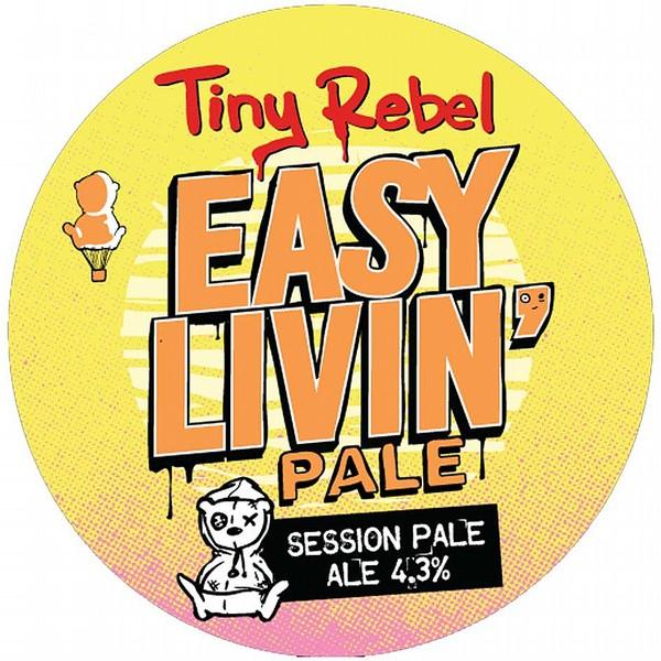 Tiny Rebel Easy Livin' Round Flat Badge