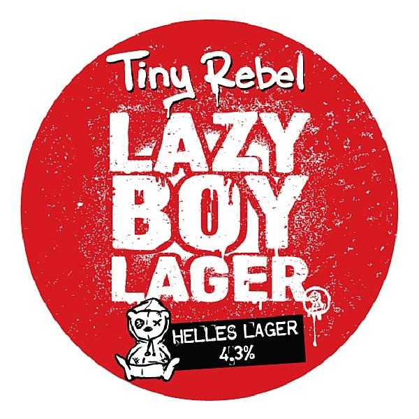 Tiny Rebel Lazy Boy Lager Round Badge