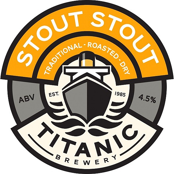 Titanic Stout Oval Badge