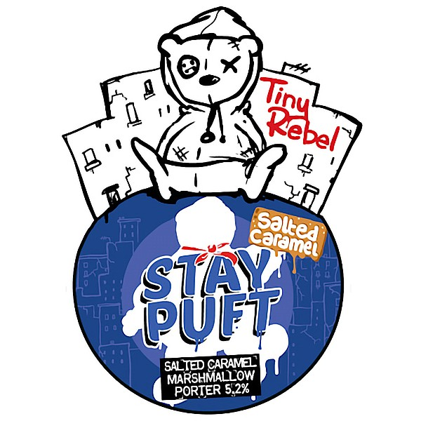 Tiny Rebel Stay Puft Salted Cara Pump Clip