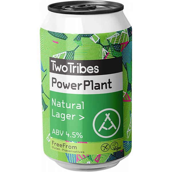Two Tribes Powerplant Natural Lager  Cans