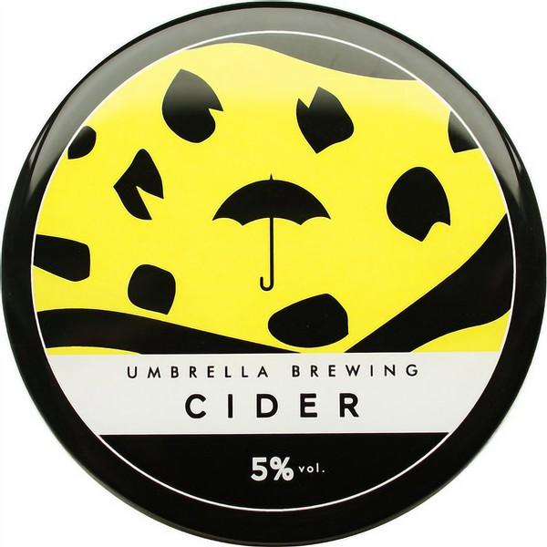 Umbrella Sparkling Cider Round Flat Badge