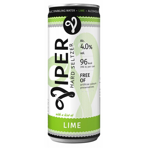 Viper Lime Hard Seltzer Cans