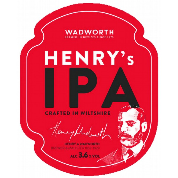 Wadworth Henry's IPA Pump Clip
