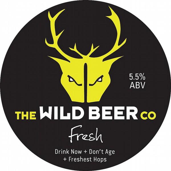 Wild Beer Co Fresh Round Flat Tap Badge